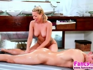 Busty Blonde Zoey Monroe and Codey Steeles hot massage sex