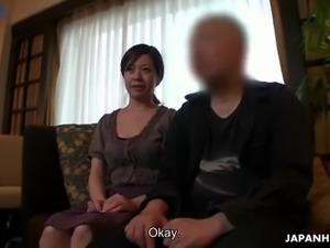 Buxom Japanese lady Juri Sawada gets her wet pussy masturbated well