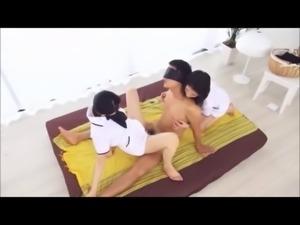 japanese dude creampie orgasm during long sensual massage 3-4