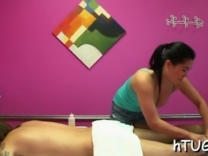 Man getting the very superlatively good massage of his life