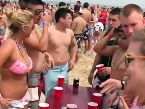 Lovely chicks get naked at the party