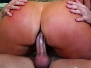 Big booty babe gets nailed in various positions