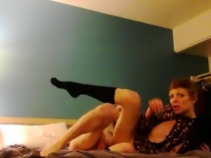Slim mature redhead takes a hard dick for an exciting ride
