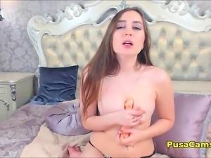 Natural Big Tits Teen Sucking And Masturbating While Orgasm