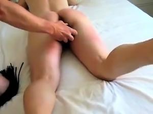 Great Amateur Video Girlfriend toying her ass for boyfriend