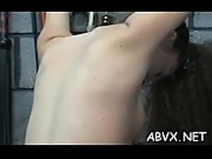 Naked doll amazing fetish bondage sex scenes with old stud