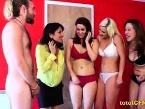 Slutty Babes Use a Man's Cock