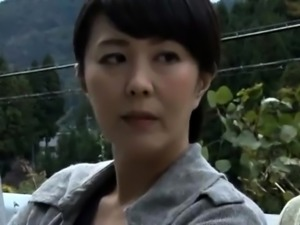 Attractive Japanese wife gets banged rough in the outdoors