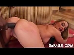 Chocolate man gets deep throat blow from nasty  white slut