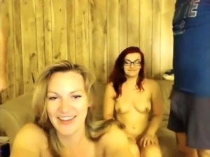Amateur slut facialed in blowjob group and swallows