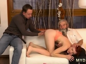 Old man caught masturbating Unexpected experience with an ol