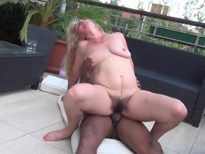 Fucked grandma on the balcony