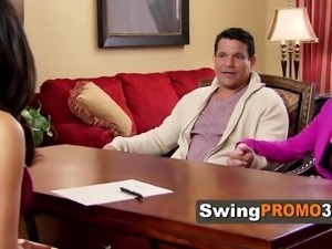 Swinger couple fantasizes about swapping