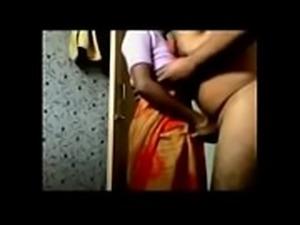 Desi Husband Flashing and fuck maid