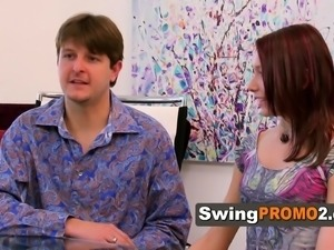 Conservative swingers arrive at mansion