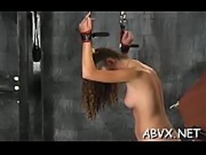 Naughty spanking and sex in amateur bondage episode scene
