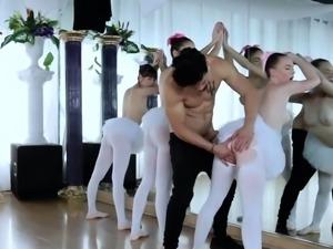 Cute teen strip xxx Ballerinas