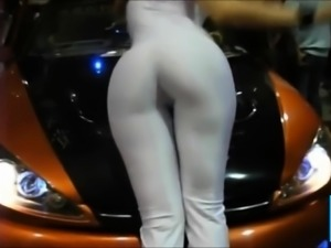 Promodora Hot ass Whie Spandex