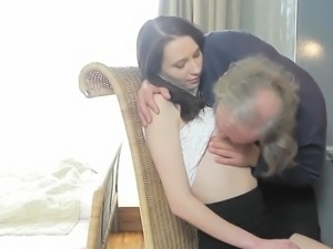 Fervid schoolgirl is teased and reamed by older schoolteache