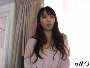 Sexy ass japanese milf tries 10-pounder in both her holes