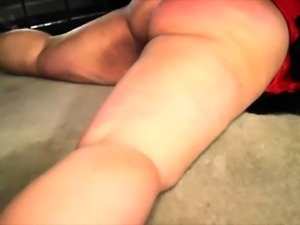 Voluptuous mature wife gets tied up and is made to cum hard