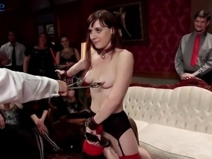 Big bottomed pale whore Alice March practices bondage and hardcore fuck