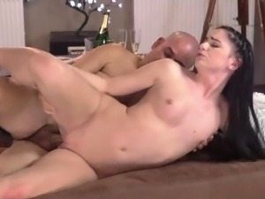 Teen anal two big cocks Vacation in mountains