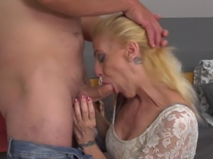 Mature mothers suck and fuck young sons