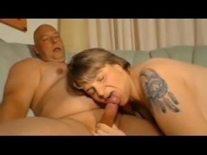 Milf with bald guy