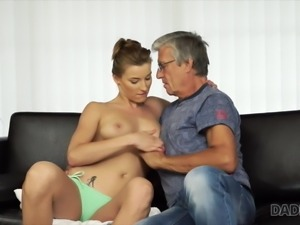 Young slut always wanted to have fun with middle-aged man