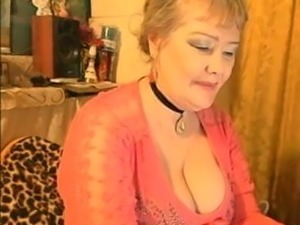 Beautiful russian granny shows fantastic tits 2