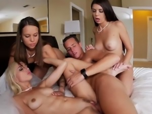 Teen threesome college dorm Bridesmaids