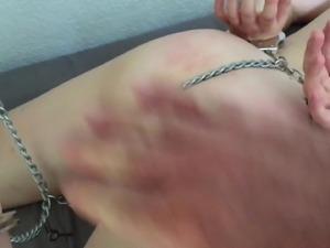 Chains, handcuffed