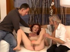 Daddy and his friends Unexpected practice with an older