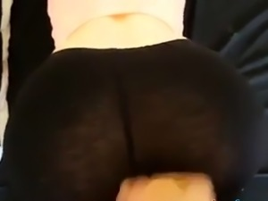 Cum on Spandex ass