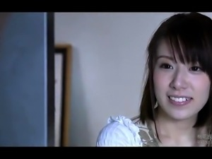 Pretty Japanese teen has an older guy banging her tight slit