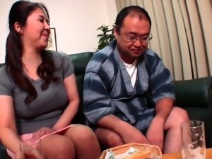 Insatiable Japanese wives expressing their passion for cock