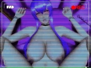 Big breasted 3D bombshell impales herself on a meat stick