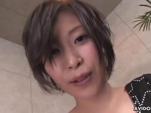 Ardent Japanese slut Saki Otsuka gives a really fantastic blowjob