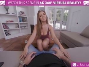 Vrbangers curvy busty babe lena paul get her pussy filled with hot cum