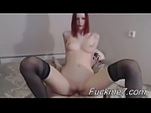 Fucks mature cunt on couch
