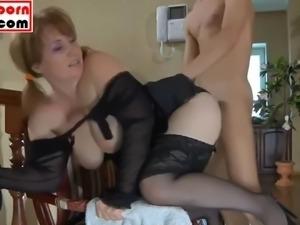 Step mom seduces step son