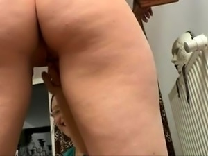 Kinky German milf with a lovely ass gets fucked by two boys