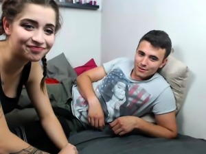 Sweet brunette amateur teen webcam sexdate fuck