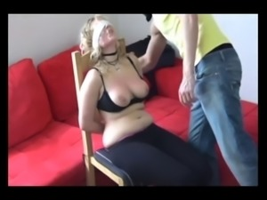 Ouch! brutal face and tits slapping!