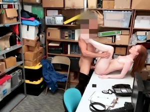 Ella Hughes sits her juicy pussy on top of his rod