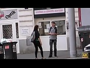 HUNT4K. Man pays attractive tourist money for quickie at his place