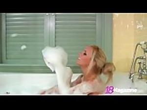 Big Boobed Teen Brittany Rubs A Dub Dub In The Tub!