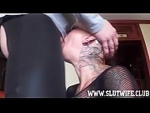 Submissive Bald Headed Slave Girl Enjoys A Brutal Sloppy Facefuck
