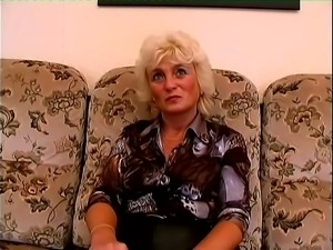 Solo Scene With Horny Granny Rubbing Her Slimy Cunt